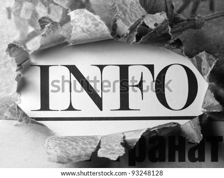 Info in newspaper. - stock photo