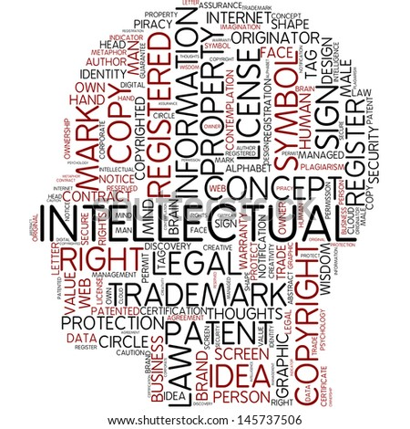 Info-text graphic - intellectual - stock photo
