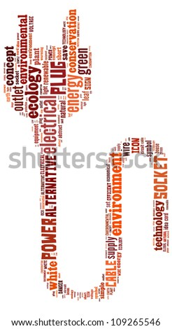 Info-text graphics Electrical composed in Plug shape concept in white background - stock photo