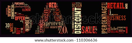Info-text graphics Sale composed in Sale Text shape concept in black background