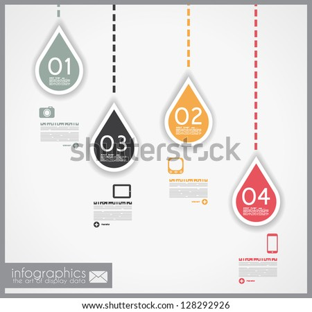 Infographic design - original paper geometric shape with shadows. Ideal for statistic data display or product ranking or general purpose classification. - stock photo