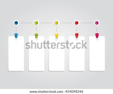Infographic design template with place for your data. Raster version. - stock photo