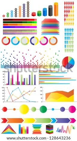 infographic elements - stock photo
