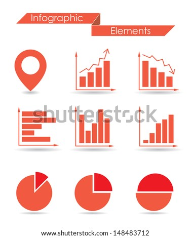 infographic elements.  set 1.(vector version also available in my gallery) - stock photo
