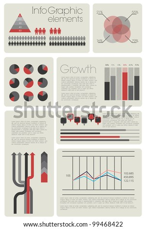 Infographic with elements - stock photo