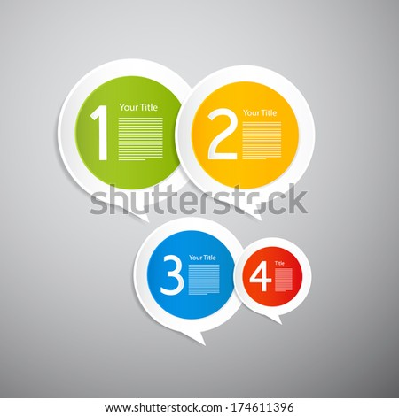 Infographics Labels Isolated on Grey Background - Also Available in Vector Version - stock photo
