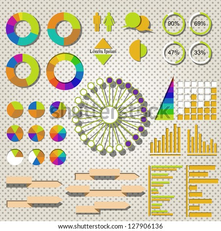 Infographics. Vector version also available in gallery. - stock photo