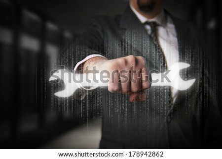 Informatic solutions - stock photo
