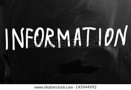 information - stock photo