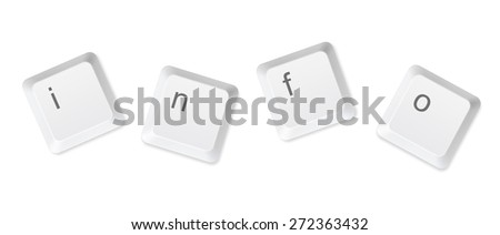 information buttons - stock photo