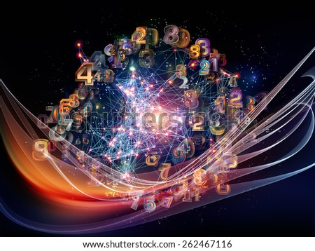 Information Cloud series. Background design of connected abstract elements on the subject of cloud networking, information, data storage and modern technology - stock photo