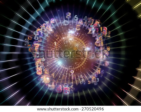 Information Cloud series. Composition of connected abstract elements on the subject of cloud networking, information, data storage and modern technology - stock photo