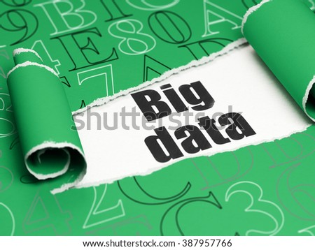 Information concept: black text Big Data under the piece of  torn paper - stock photo