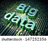 Information concept: circuit board with word Big Data, 3d render - stock photo