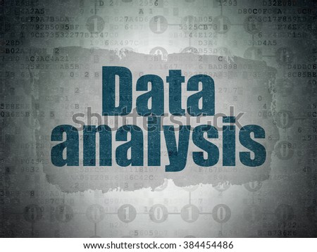 Information concept: Data Analysis on Digital Paper background - stock photo