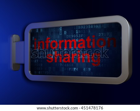 Information concept: Information Sharing on advertising billboard background, 3D rendering - stock photo