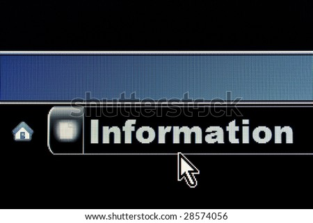 Information concept on an internet browser URL address - stock photo