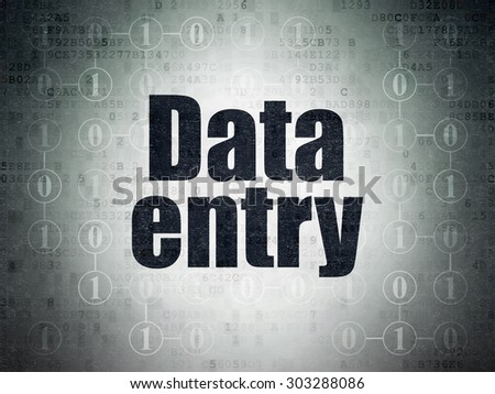 Information concept: Painted black text Data Entry on Digital Paper background with  Scheme Of Binary Code, 3d render - stock photo