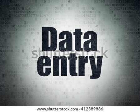 Information concept: Painted black word Data Entry on Digital Data Paper background - stock photo