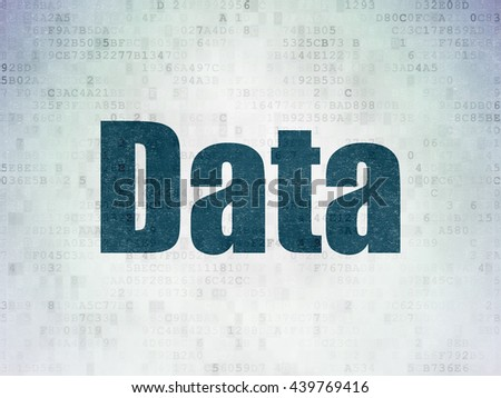 Information concept: Painted blue word Data on Digital Data Paper background - stock photo