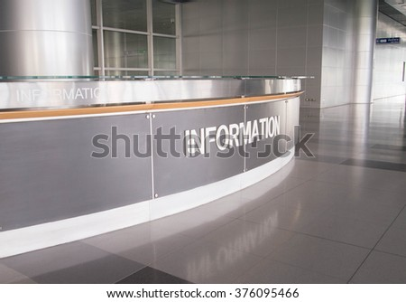 Information Counter at the airport - stock photo