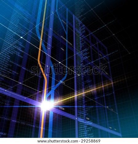 Information / cyberspace abstract - stock photo