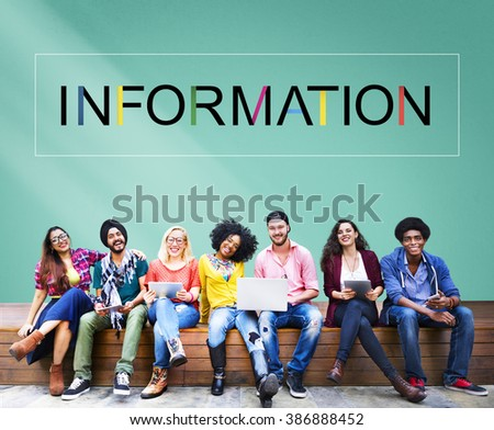 Information Data Communication Statistics Content Concept - stock photo