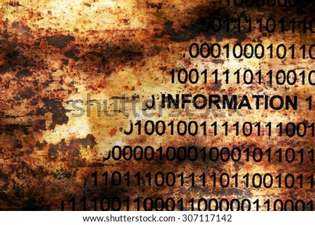 Information data on grunge background