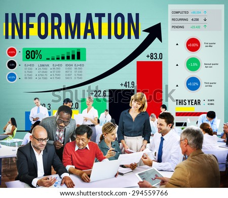 Information Data Research Facts Source Concept - stock photo