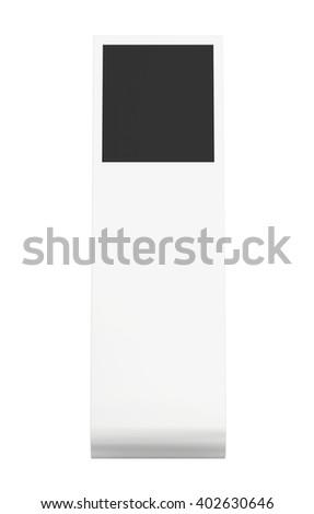 information kiosk. Information terminal. interactive kiosk on white background - stock photo