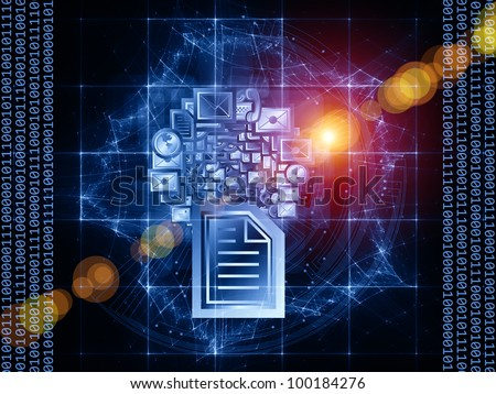 Information media background suitable as a backdrop for projects on document processing, modern office and  global communications