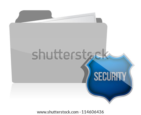 Information protection by a shield illustration design - stock photo