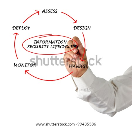 Information Security Lifecycle   - stock photo