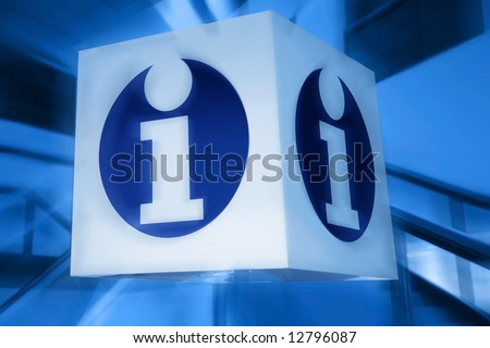 information signboard. white shield - stock photo