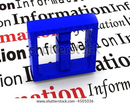 Information. Symbol. 3d - stock photo