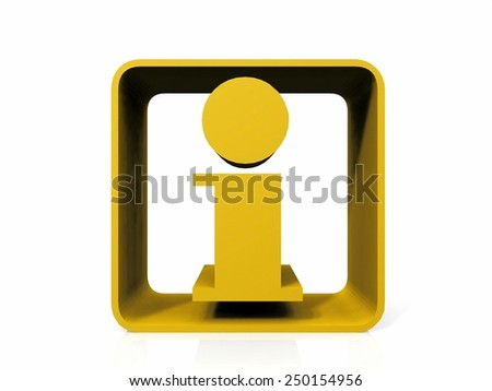 information  symbol on a white background - stock photo