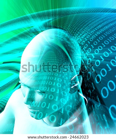 Information technology abstract background