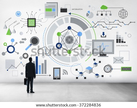 Information Technology Digital Network Concept - stock photo