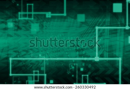 Information Technology Solutions as a Presentation Art - stock photo