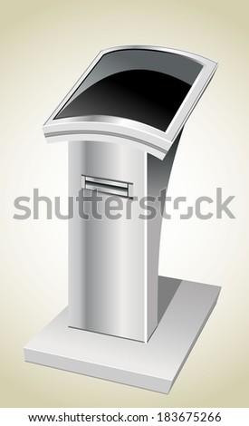 information terminal - stock photo