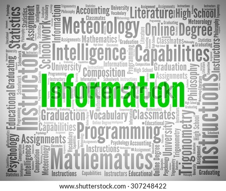 Information Word Representing Knowledge Words And Advisor