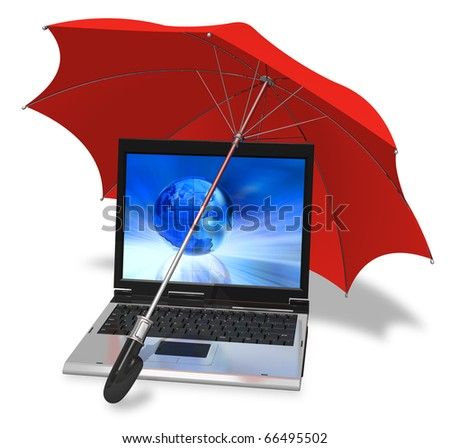 Informational security concept - stock photo