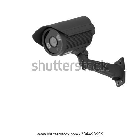 Infrared day & night camera, isolated on white background with clipping path - stock photo