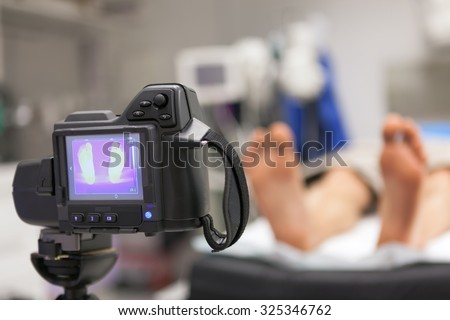 Infrared Thermal Camera in Medical Application; focus is on the IR image and shutter button