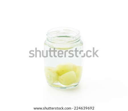 infused water isolated on white background