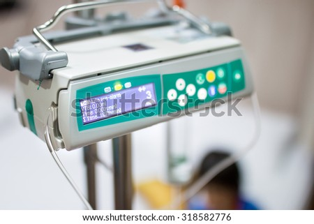 infusion pump medical devices - stock photo