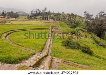 Ingapirca, The Castle Complex Of Canar Inca Origin, Ecuador, South America