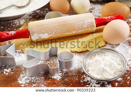 ingredient of  homemade baking - stock photo