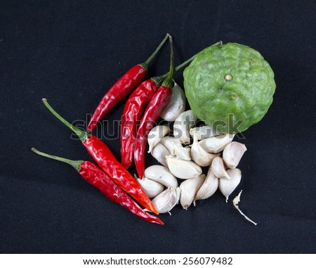 Ingredient thai food - stock photo