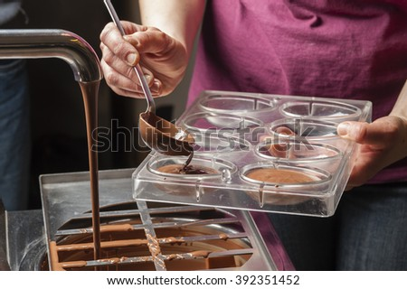 Ingredients and preparation of italian Easter milk and dark chocolate eggs and sweets